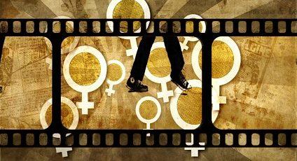 Image d'un ruban de film avec pictogramme de la femme.