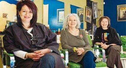 Photographie de Diane Trépanière, Nathalie St-Germain et Léonie Couture