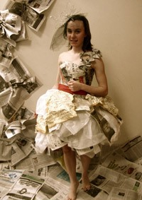 Photographie d'un vêtement tiré de la collection de mode écologique.