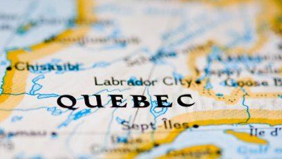 Carte du Québec.