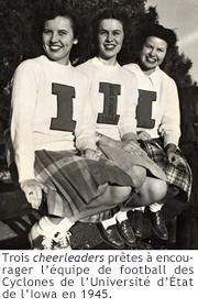 Photo des cheerleaders de l'Iowa 1945