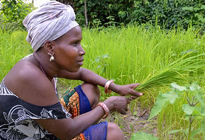 Photographie d'une femme africaine