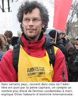 Photographie de Gilles Sabourin d'Amnistie internationale.