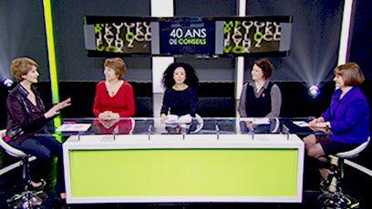 Photographies des participantes de l'émission de télé.