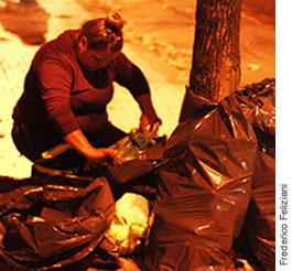 Photographie d'une recycleuse.