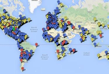 Carte du monde.