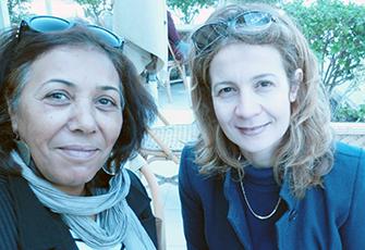 Photographie de Houda Cherif et Yamina Mathlouthi.