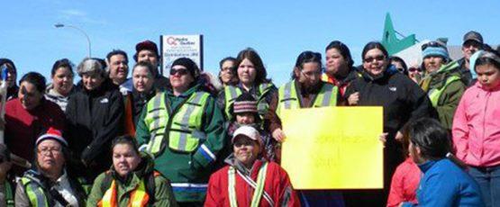 Photographie des participantes de la Marche des femmes autochtones