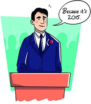 Illustration Justin Trudeau.