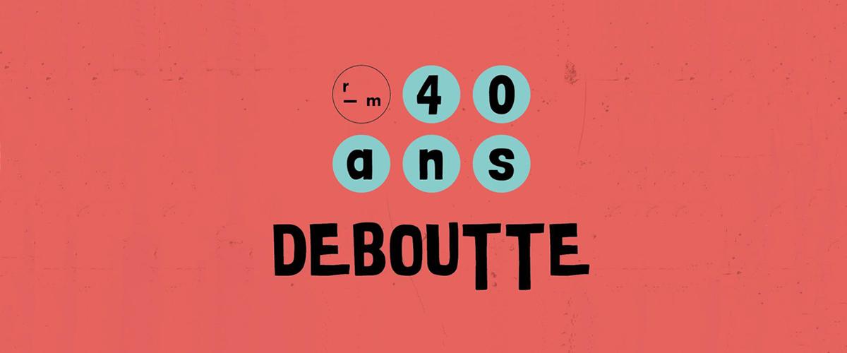 Logo du 40e anniversaire de Remue-ménage.