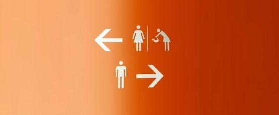 Pictogrammes de femmes et d'hommes.