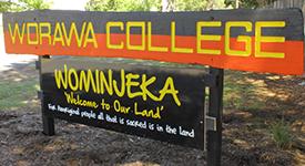 Écriteau Worawa College.