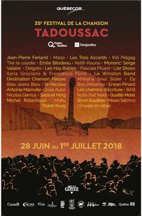 Visuel du festival de la chanson de Tadoussac.